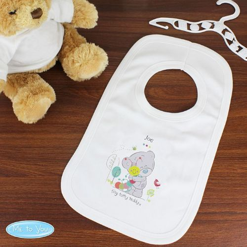 Personalised Tiny Tatty Teddy Cuddle Bug Baby Bib